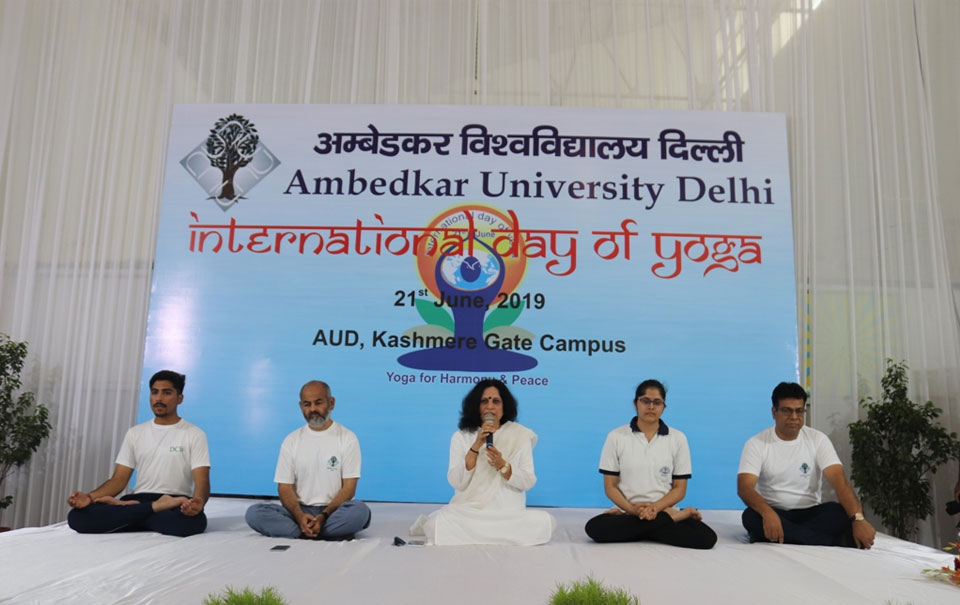 2019 UN theme of Yoga day is yoga for climate action. AUD organized intentional Day of Yoga to raise awareness of the benefits of practicing Yoga.