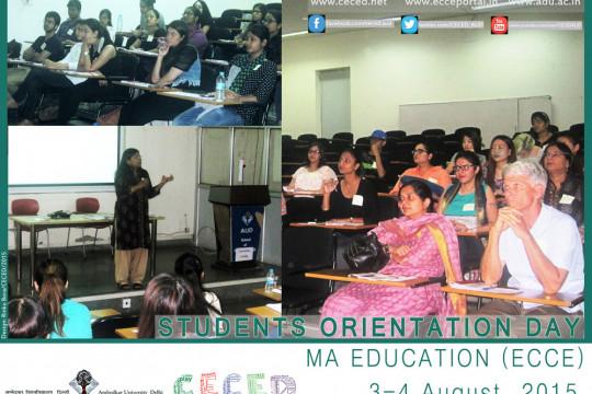 MA Education (ECCE) Students Orientation