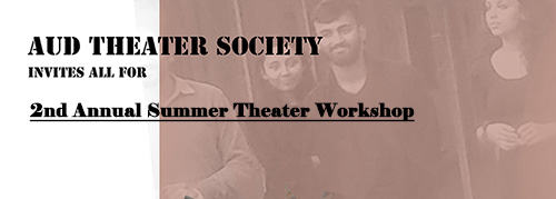 2nd Annual Summer Theater Workshop