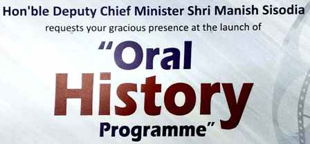 Launch of Oral History Program