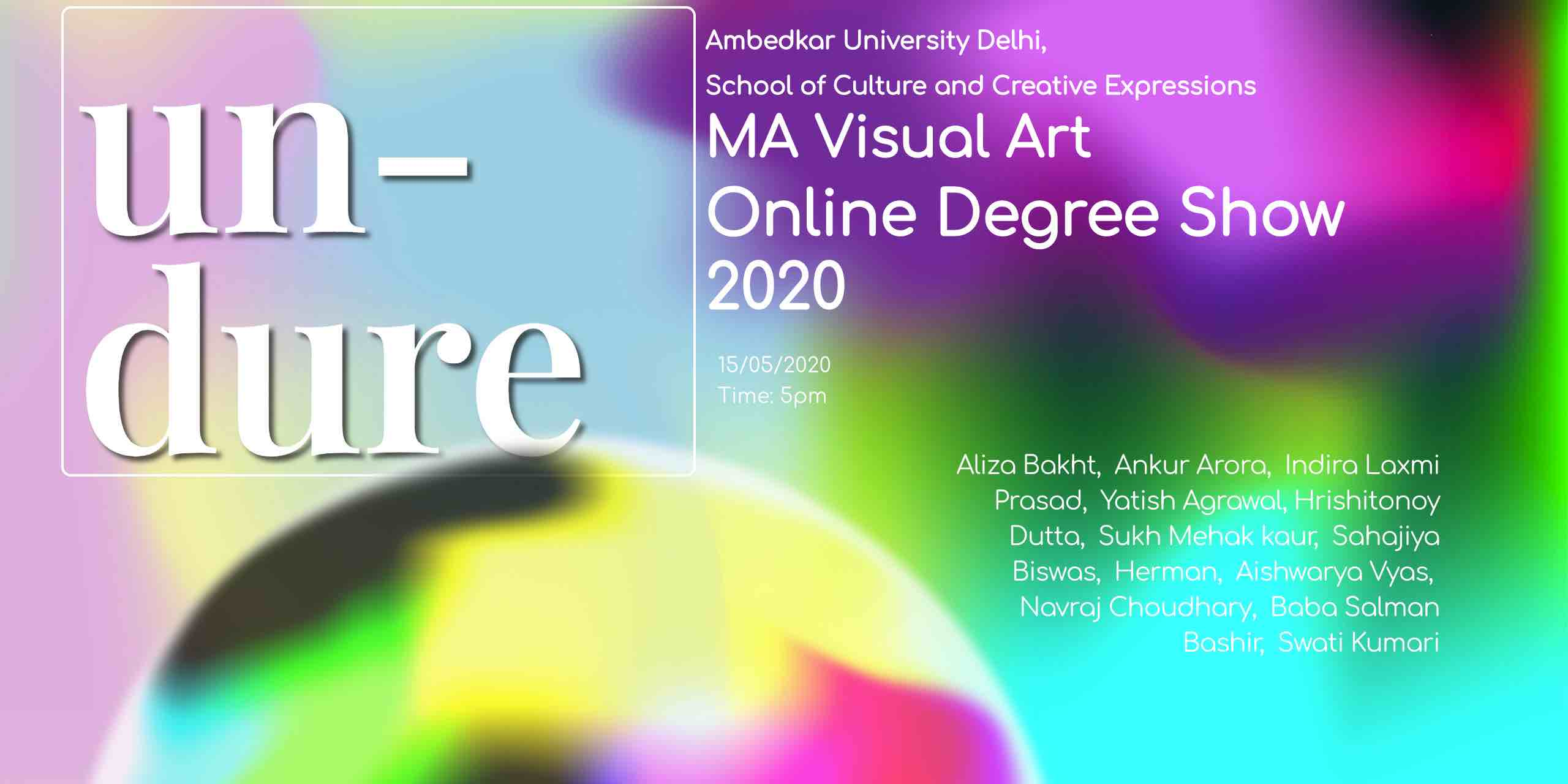 Online Degree Show of MA Visual Art batch 2018-20