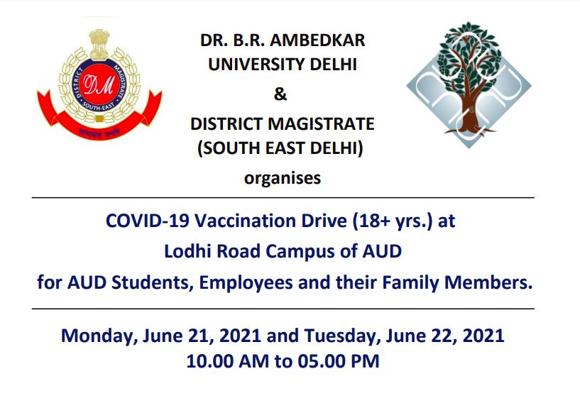 COVID-19 Vaccination Camp at Lodhi Road Campus