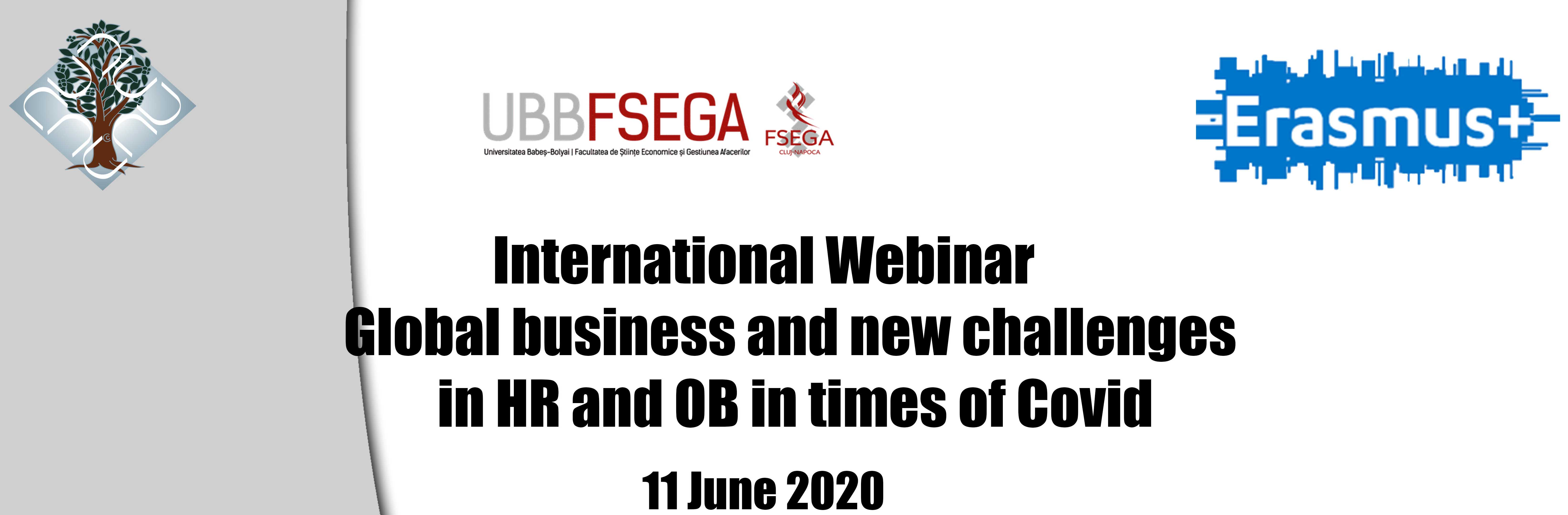 International Webinar Global Business and new challenges in HR and OB in times of Covid