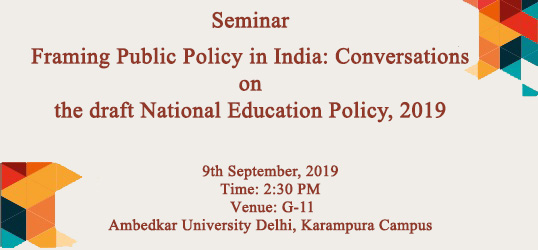 Conversations on the draft National Education Policy