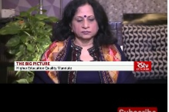 Hon'ble Vice Chancellor at The Big Picture : Higher Education Quality Mandate, Rajya Sabha TV