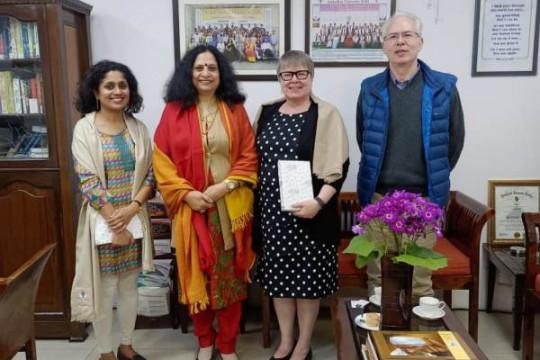 Prof. Gwen Chapman and Prof. Sharda Srinivasan, University of Guelph, Canada visit to AUD