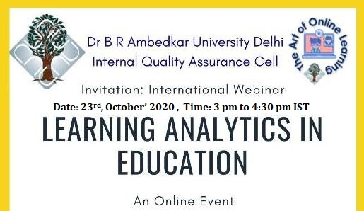 International Webinar on Learning Analytics in Education