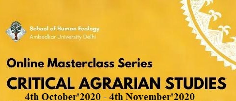 Online Masterclass Series on Critical Agrarian Studies