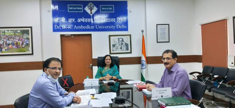 Ambedkar University had it's Tenth University Court meeting chaired by Honble Chancellor and Lt Governor of Delhi.